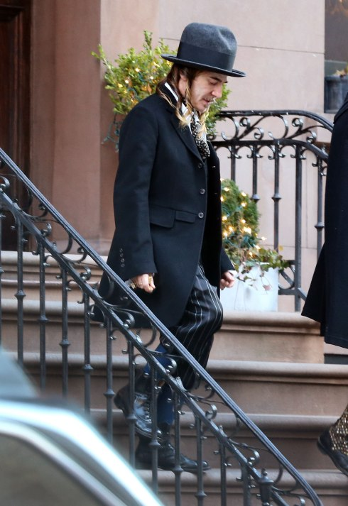 John Galliano leaves a NY apartment