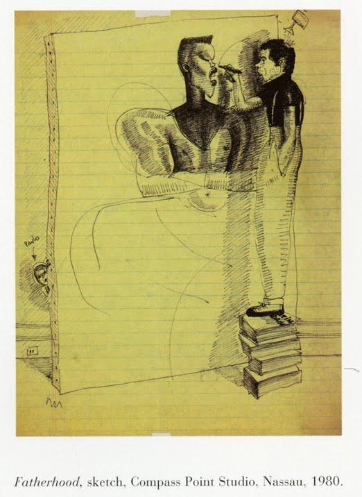 Fatherhood sketch at compass point studios 1980