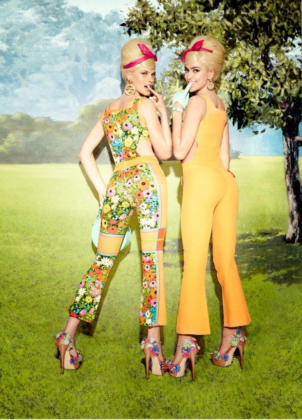 Anne Vyalitsyna & Irina Shayk by Ellen von Unwerth (Sister Act - Vs. Spring-Summer 2013) 8