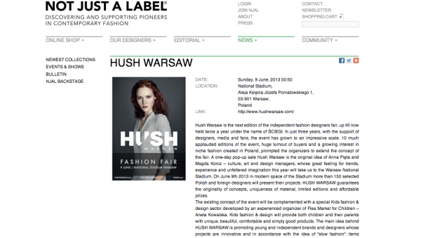 Hush Warsaw - Not Just a Label