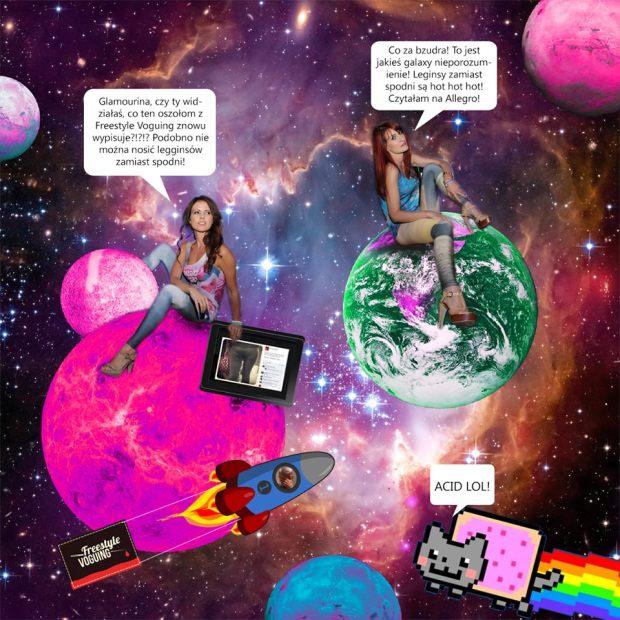 Glamourina i Fashion Roulette w Kosmosie