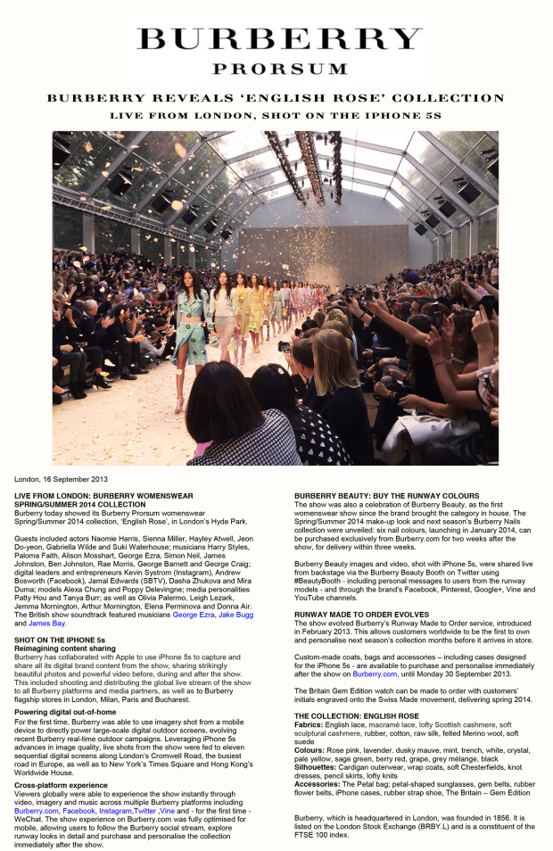 Press Release - Burberry reveals 'English Rose' collection[1] copy