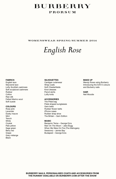 Press Release - Burberry reveals 'English Rose' collection[2]