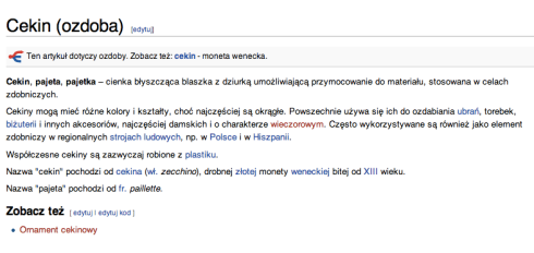 Definicja cekinów dla Roberta Kupisza
