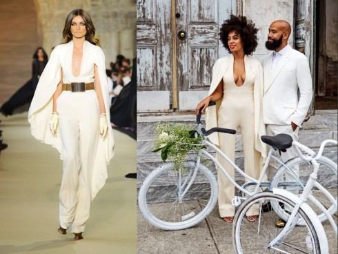Solange-Knowles-Stéphane-Rolland-Wedding-jumpsuits-2014