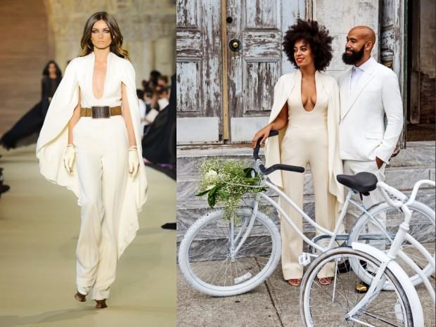 Solange-Knowles-Stéphane-Rolland-Wedding-jumpsuits-2014